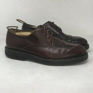 Bruno Magli Mens Brown Leather Dress Shoes Sz 9.5M